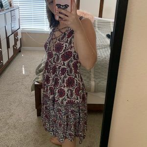 Floral patterned light airy dress